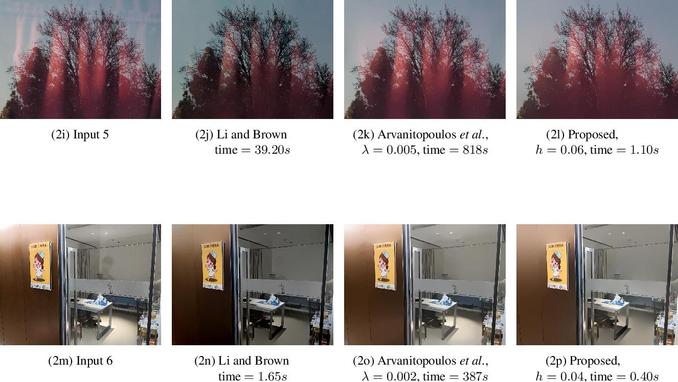 Figure 3 for Fast Single Image Reflection Suppression via Convex Optimization
