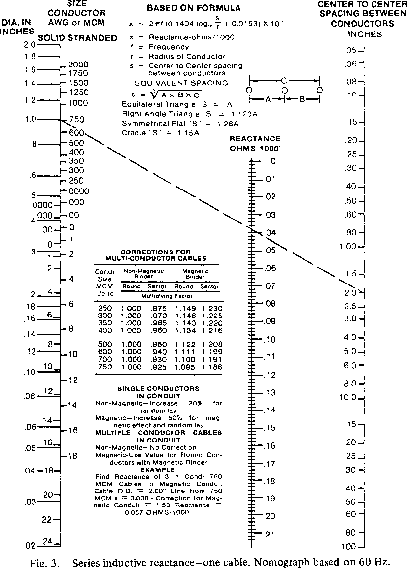 Voltage drop calculations for electrically short insulated figure 3 greentooth Gallery