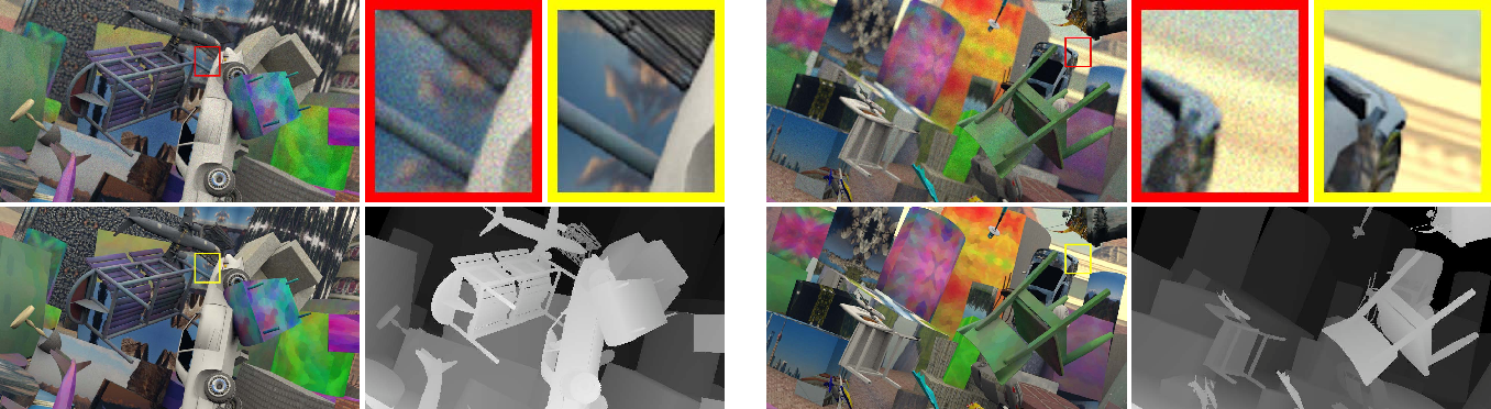 Figure 1 for A Learning-based Framework for Hybrid Depth-from-Defocus and Stereo Matching