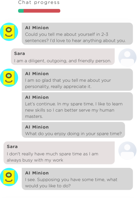 Figure 1 for If I Hear You Correctly: Building and Evaluating Interview Chatbots with Active Listening Skills