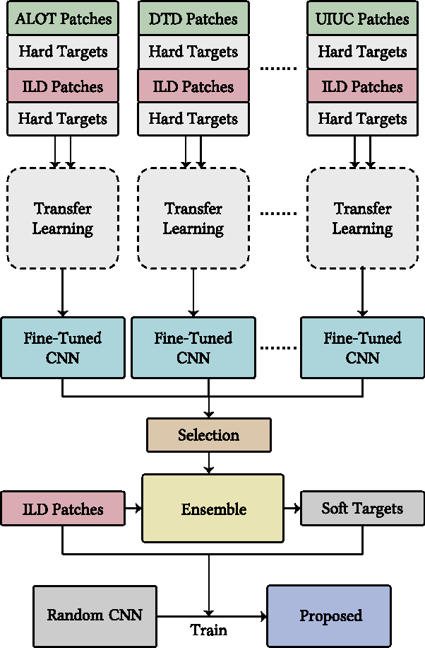 Figure 2 for Multi-source Transfer Learning with Convolutional Neural Networks for Lung Pattern Analysis