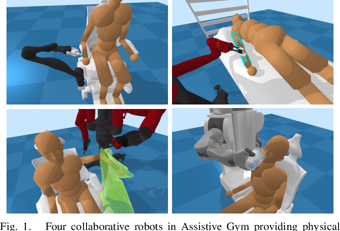 Figure 1 for Assistive Gym: A Physics Simulation Framework for Assistive Robotics