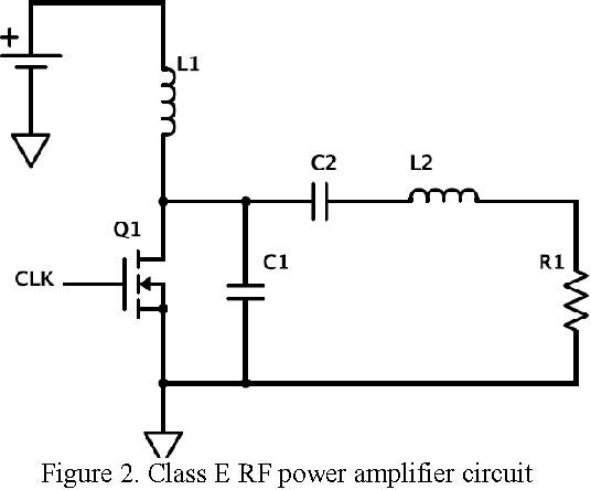 figure 2 from class e rf amplifier design in an ultrasonic link forclass e rf power amplifier circuit