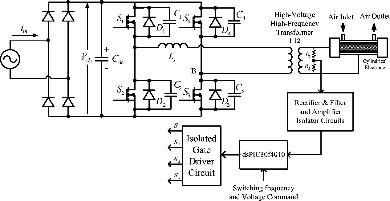 Circuit Diagram Ozone Generator Of Air Water Schematic Wiring Analysis And Modeling A Phase Shifted Pulsewidth Purifier