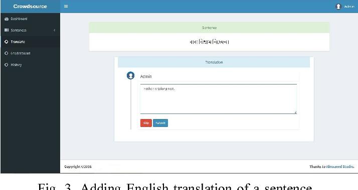 A Crowd-Source Based Corpus on Bangla to English Translation