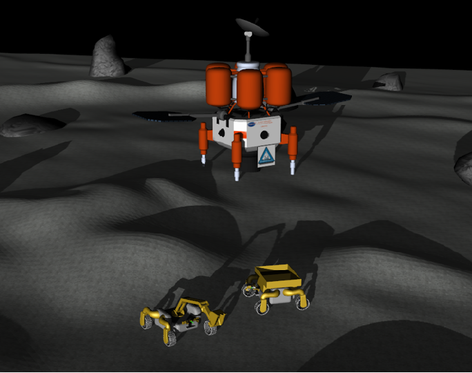 Figure 1 for NASA Space Robotics Challenge 2 Qualification Round: An Approach to Autonomous Lunar Rover Operations