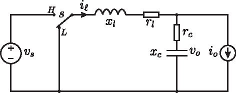 Fig. 2. Synchronous step down converter.
