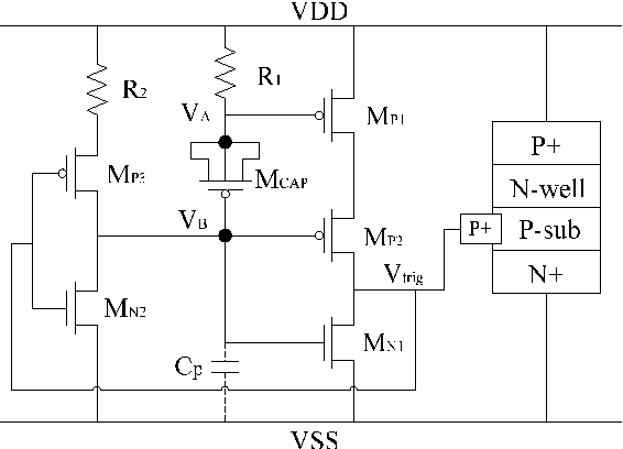 Figure 2. Schematic of the clamp circuit reported in [8]