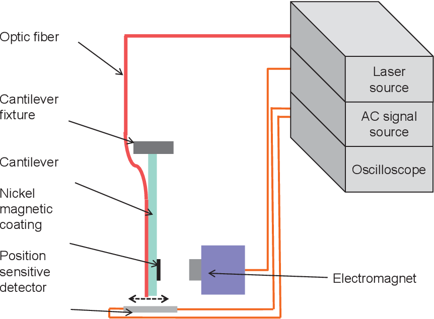 Figure 4.4. Experimental setup for dynamic characterization.