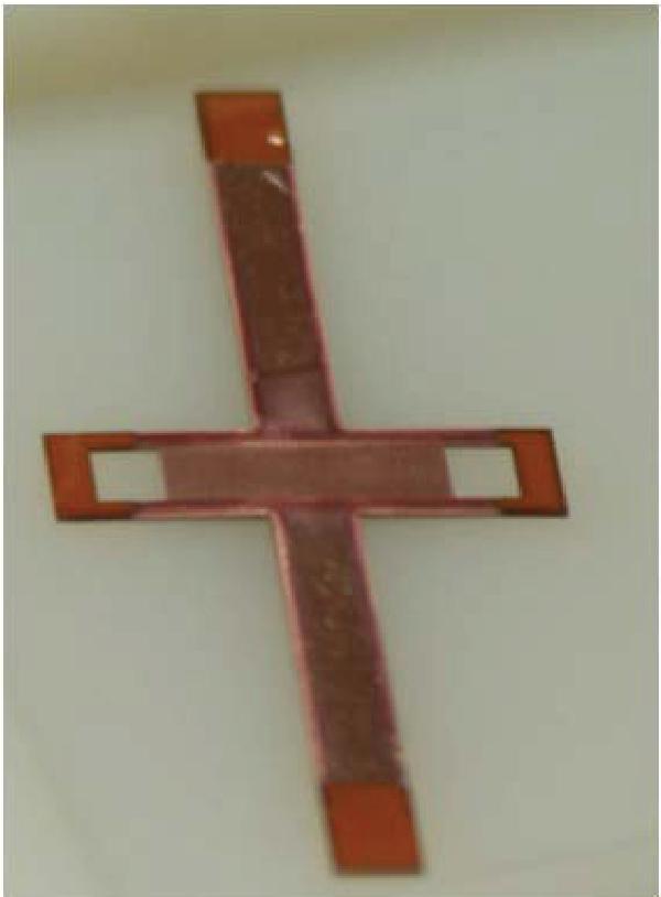 Figure 5.9. Copper deposited IDC on Kapton film.