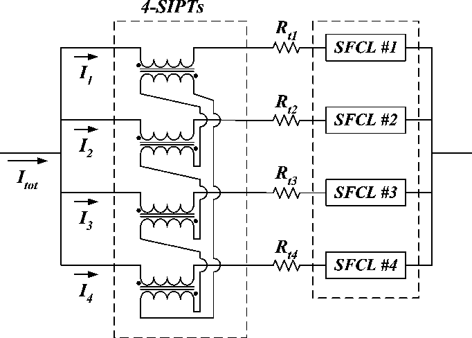 Equal current distribution in parallel circuits of resistive