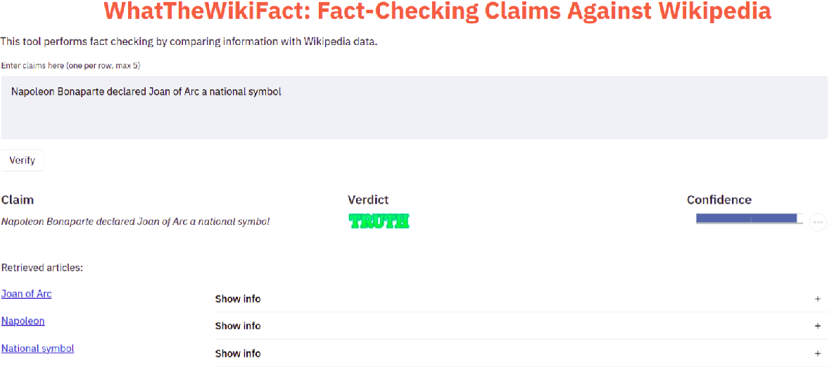 Figure 3 for WhatTheWikiFact: Fact-Checking Claims Against Wikipedia