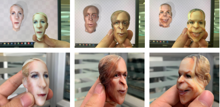 Figure 1 for 3D-CariGAN: An End-to-End Solution to 3D Caricature Generation from Face Photos