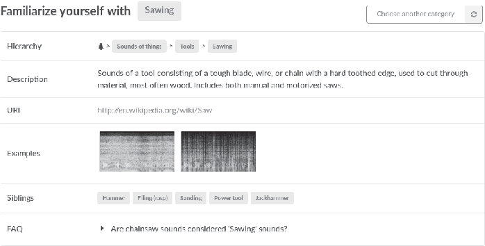 Figure 1 for Facilitating the Manual Annotation of Sounds When Using Large Taxonomies