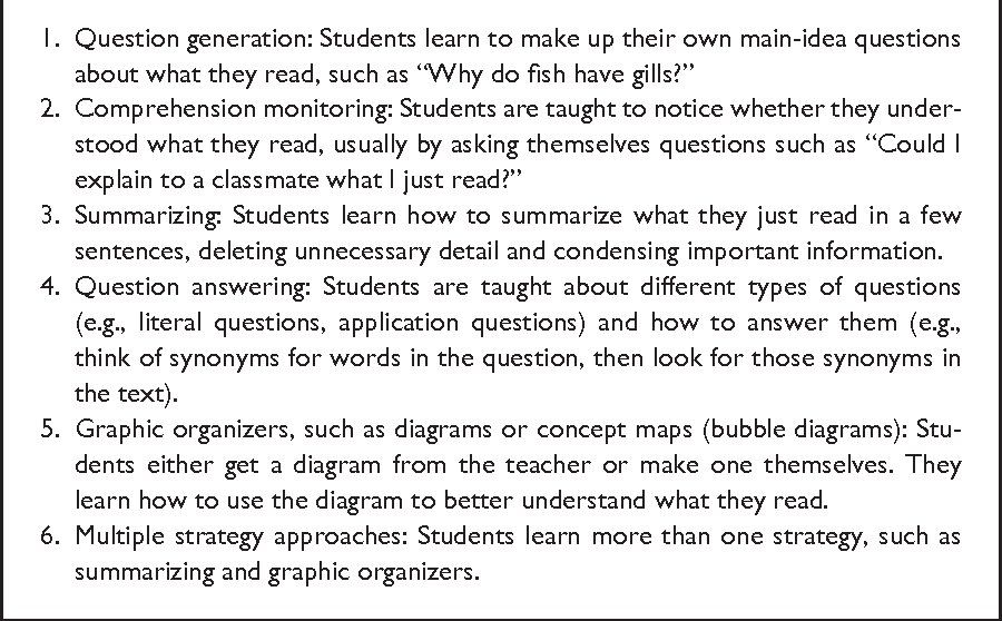 7 Metacognition Cognitive Strategy Instruction And Reading In