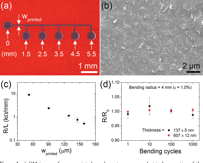 Figure 4 from High-resolution patterning of graphene by screen