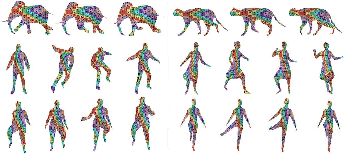 Figure 4 for Temporally-Coherent Surface Reconstruction via Metric-Consistent Atlases