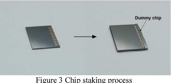 Figure 3 Chip staking process