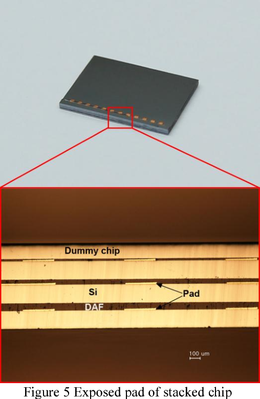Figure 5 Exposed pad of stacked chip