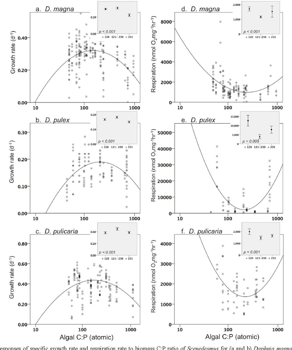 Life on the stoichiometric knife-edge : effects of high and low food ...