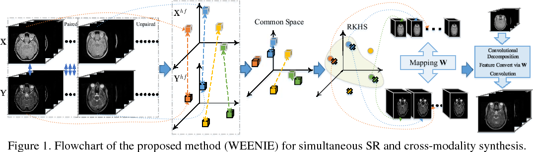 Figure 1 for Simultaneous Super-Resolution and Cross-Modality Synthesis of 3D Medical Images using Weakly-Supervised Joint Convolutional Sparse Coding