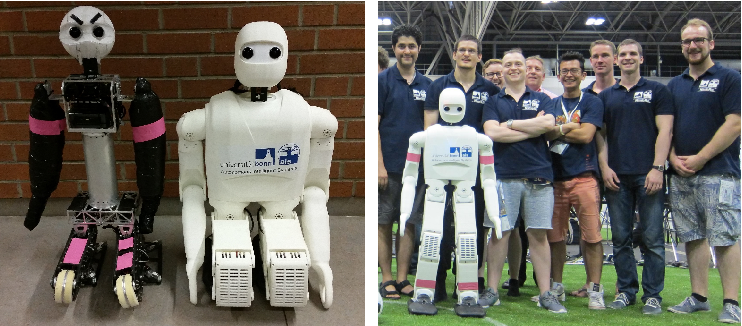 Figure 1 for Grown-up NimbRo Robots Winning RoboCup 2017 Humanoid AdultSize Soccer Competitions