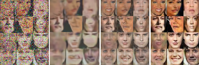 Figure 1 for Correction by Projection: Denoising Images with Generative Adversarial Networks