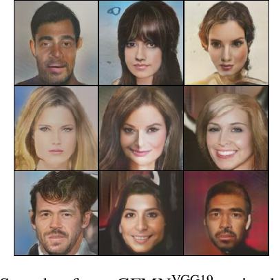 Figure 4 for Learning Implicit Generative Models by Matching Perceptual Features
