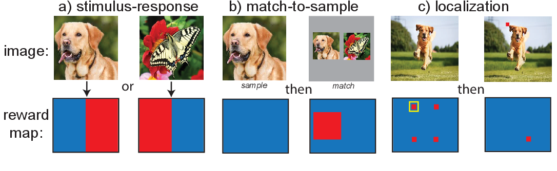 Figure 2 for A Useful Motif for Flexible Task Learning in an Embodied Two-Dimensional Visual Environment