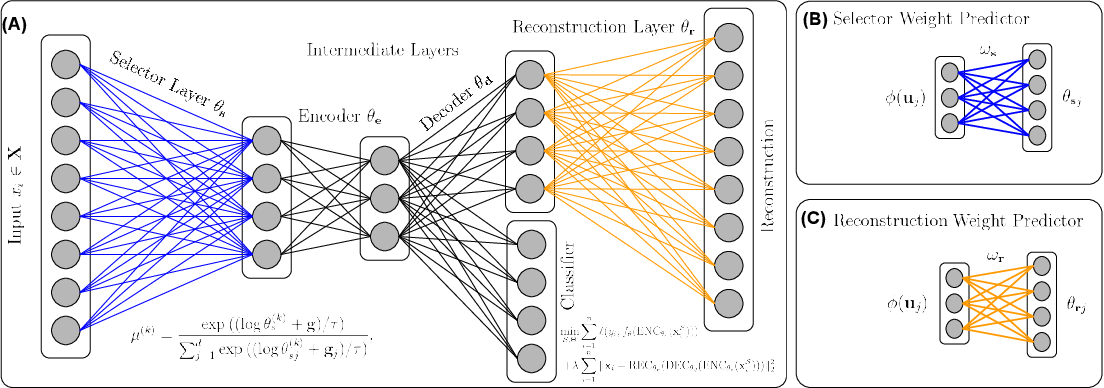Figure 1 for FsNet: Feature Selection Network on High-dimensional Biological Data