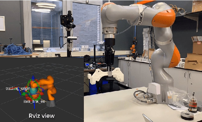 Figure 1 for 3D Vision-guided Pick-and-Place Using Kuka LBR iiwa Robot