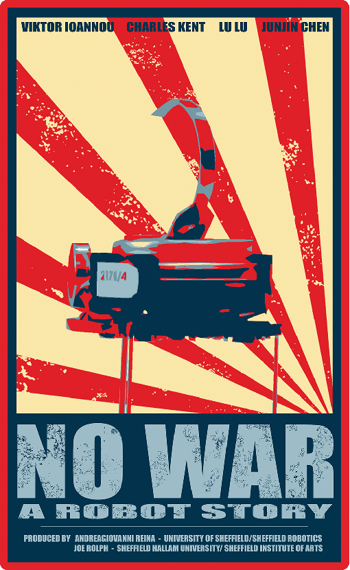 Figure 1 for Robots as Actors in a Film: No War, A Robot Story