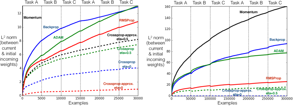 Figure 2 for Learning Representations by Stochastic Meta-Gradient Descent in Neural Networks