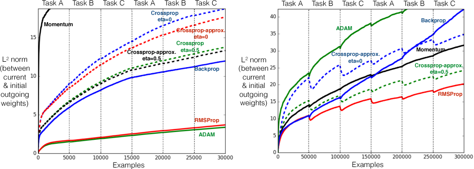 Figure 3 for Learning Representations by Stochastic Meta-Gradient Descent in Neural Networks