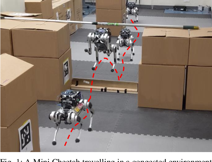 Figure 1 for Autonomous Navigation for Quadrupedal Robots with Optimized Jumping through Constrained Obstacles