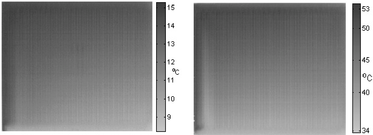 Fig. 1. Differential thermogram for t1 = 40 oC and qv = 86 l/h
