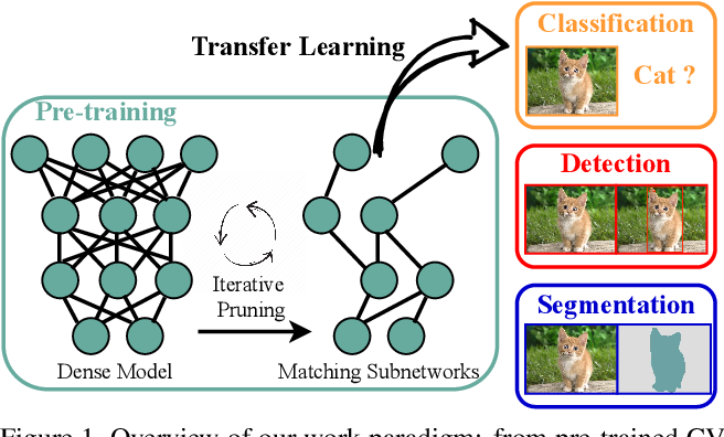 Figure 1 for The Lottery Tickets Hypothesis for Supervised and Self-supervised Pre-training in Computer Vision Models