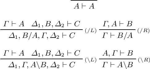 Figure 1 for Categorical Vector Space Semantics for Lambek Calculus with a Relevant Modality
