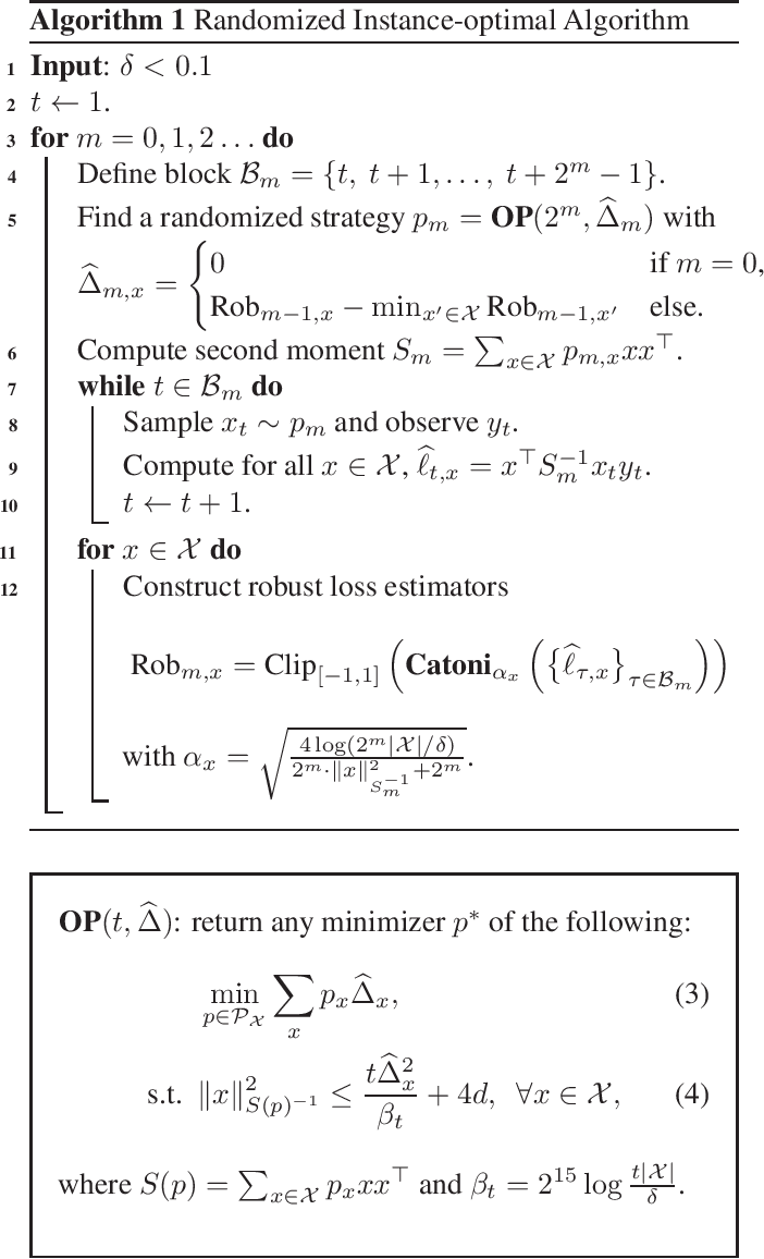 Figure 1 for Achieving Near Instance-Optimality and Minimax-Optimality in Stochastic and Adversarial Linear Bandits Simultaneously
