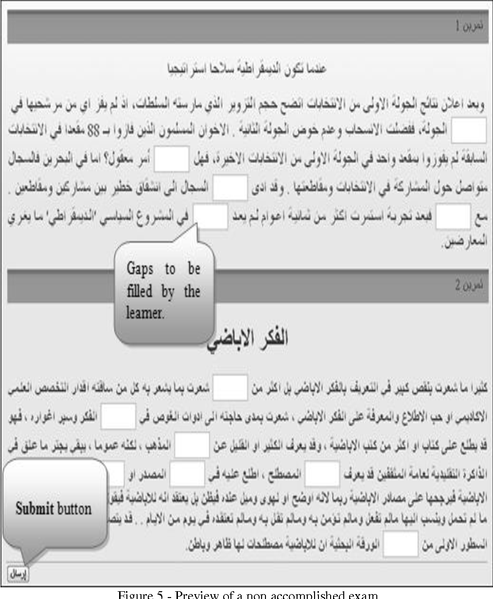Figure 4 for Arabic CALL system based on pedagogically indexed text