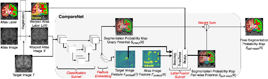 Figure 1 for CompareNet: Anatomical Segmentation Network with Deep Non-local Label Fusion