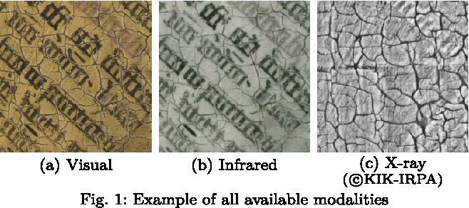 Figure 1 for Bayesian crack detection in ultra high resolution multimodal images of paintings