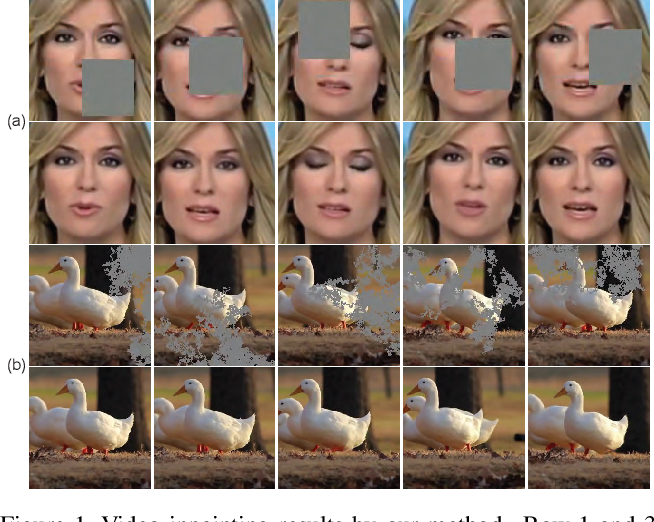 Figure 1 for Frame-Recurrent Video Inpainting by Robust Optical Flow Inference