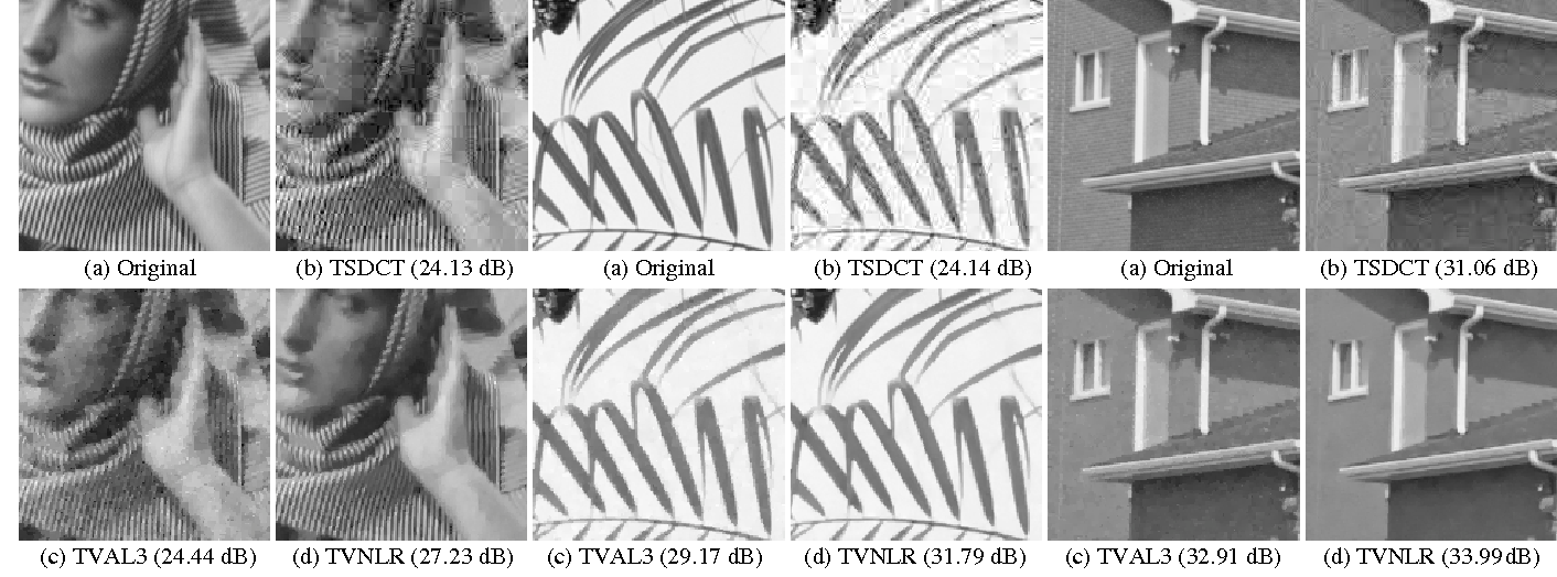 Figure 1 for Improved Total Variation based Image Compressive Sensing Recovery by Nonlocal Regularization