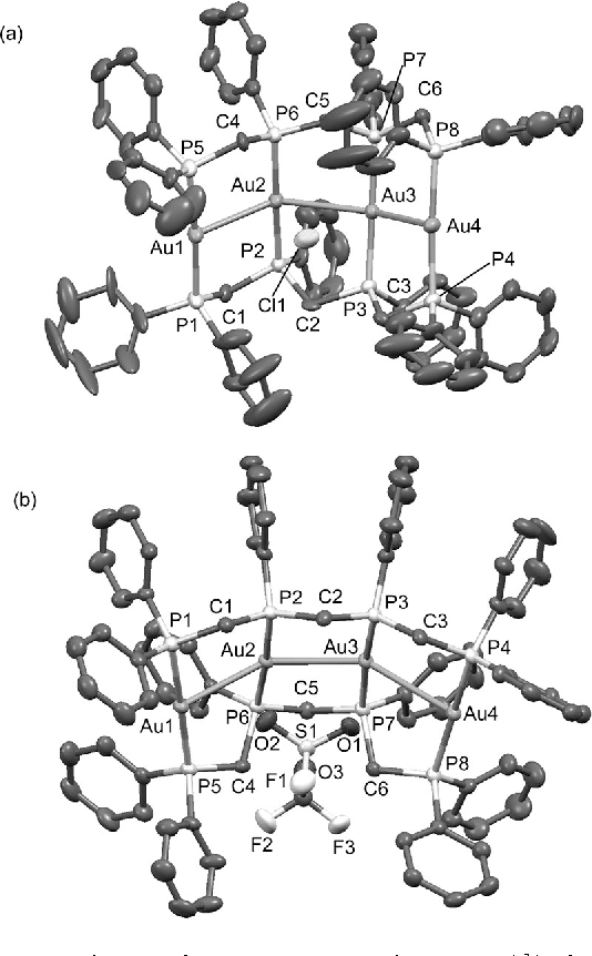Figure 3 From Strongly Luminous Tetranuclear Goldi Complexes