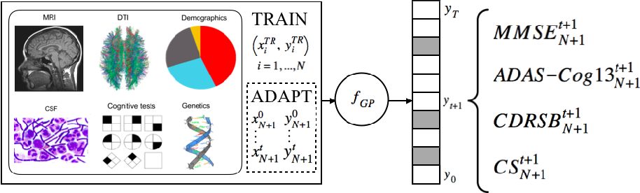 Figure 1 for Personalized Gaussian Processes for Future Prediction of Alzheimer's Disease Progression