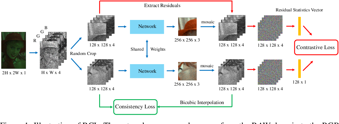 Figure 1 for Residual Contrastive Learning for Joint Demosaicking and Denoising