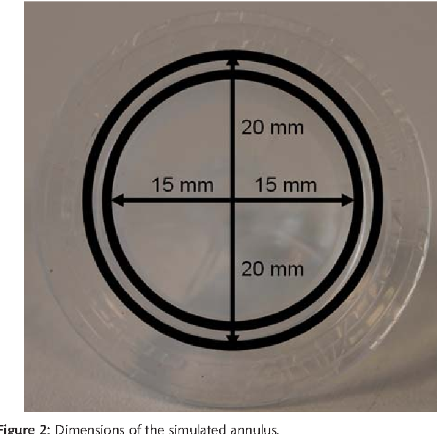 Figure 2: Dimensions of the simulated annulus.