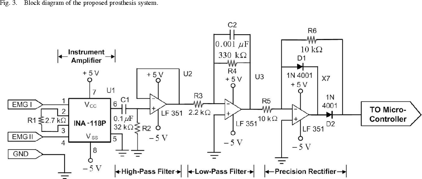 Emg Circuit Design Project Experience Of Wiring Diagram Ekg Figure 4 Schematic Schema Img Rh 15 11 2 Derleib De Amplifier
