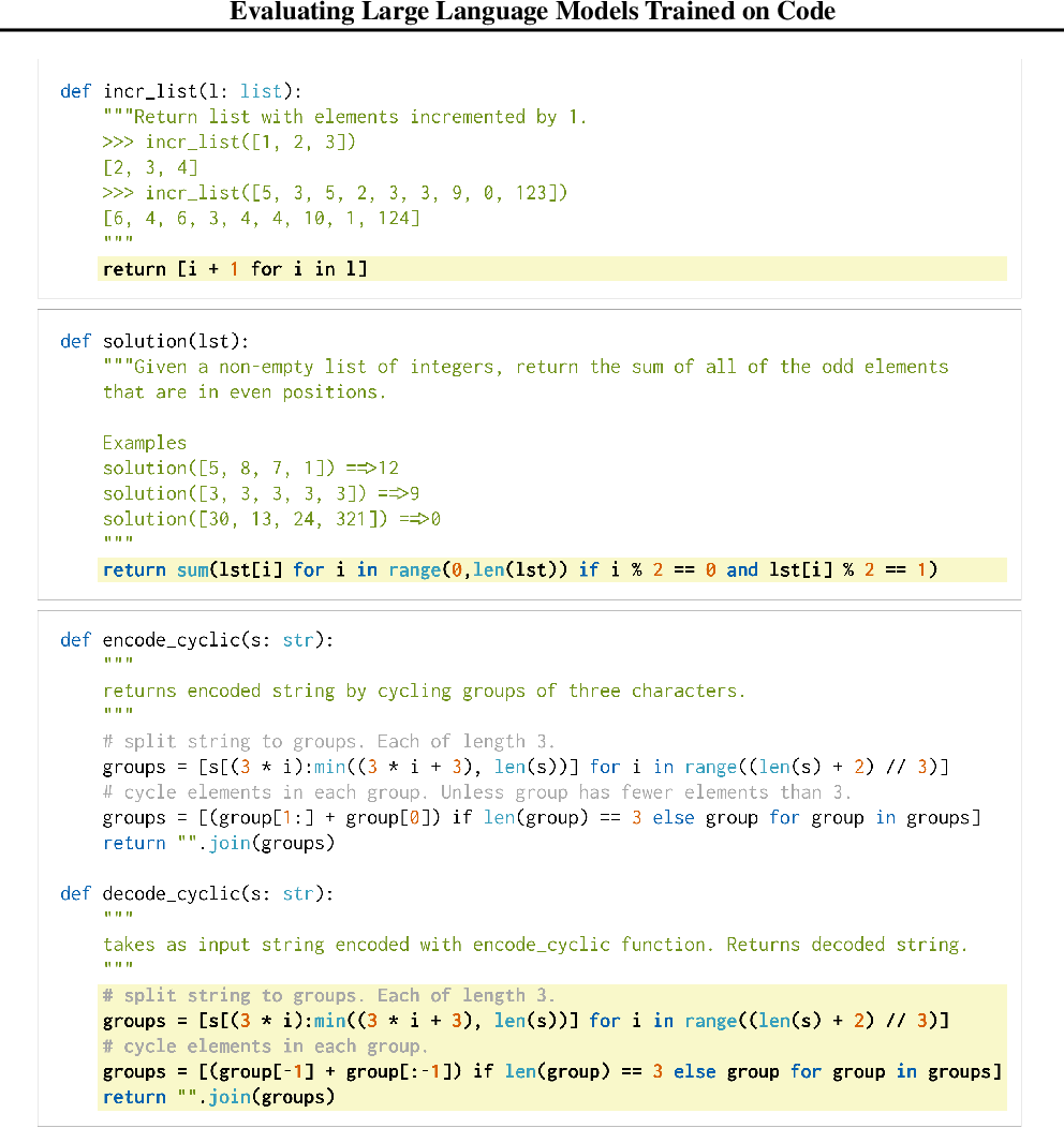 Figure 3 for Evaluating Large Language Models Trained on Code